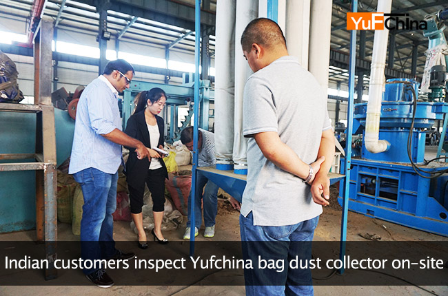 Indian customers inspect Yufchina bag dust collector on-site
