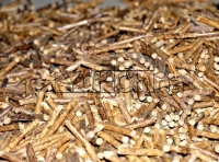What is the quantity of wood pellet we can got with 1 ton of raw materials?
